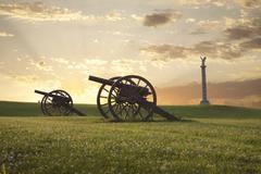 Cannons at antietam (sharpsburg) battlefield in maryland Stock Photos