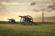 Stock Photo of cannons at antietam (sharpsburg) battlefield in maryland