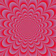 Pink Rosette - stock illustration