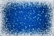 Pretty blue night sky snow background Stock Illustration