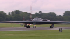 Northrop Grumman B2 Spirit Bomber Take-off Stock Footage