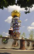 Hundertwasser tower - stock photo