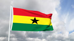 Flag of Ghana Stock Footage