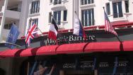 Majestic Barriere Cannes Hotel Sign Establisher Stock Footage