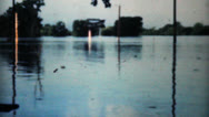 Flooded River In Dallas-1948 Vintage 8mm Stock Footage