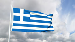Flag of the Hellenic Republic Stock Footage