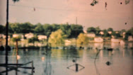 Flooded Neighborhood In Dallas Texas-1948 Vintage 8mm Stock Footage