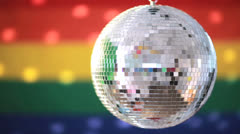Shiny disco ball revolving - stock footage