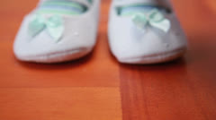 Babys first steps Stock Footage
