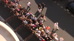 High Angle Top Shot Crowds at Cannes Film Festival Queuing - stock footage