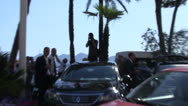 Paparazzi in car at Cannes Film Festival Stock Footage