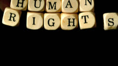 Human rights dice falling - stock footage