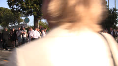 Police control traffic and pedestrians in Cannes during the Film Festival - stock footage