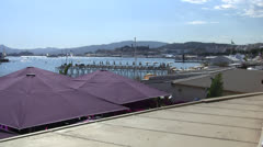 Cannes Croisette Wide Shot Establisher - stock footage