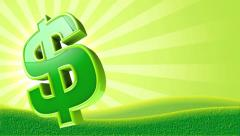 Dollar Sign Background Loop Stock Footage