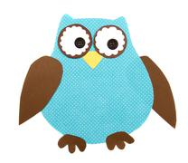 a paper cut out owl - stock illustration