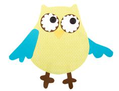 paper cut out owl - stock illustration