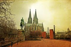 Goottilainen katedraali Kölnissä Kuvituskuvat