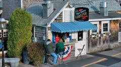Lobster snackbar serves seafood Stock Footage