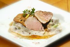 Roasted pork sirloin Stock Photos