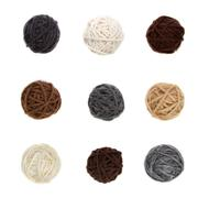 Nine differnt balls of yarn in neutral colors Stock Photos
