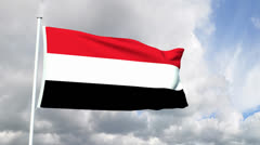 Flag of Yemen Stock Footage