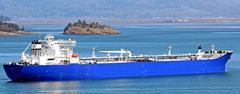 Oil tanker ship Stock Photos