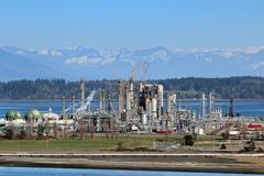 Industrial refinery Stock Photos