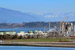 industrial refinery - stock photo