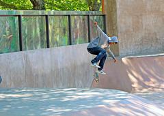 skateboarding - stock photo