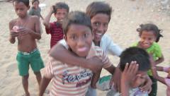 Stock Video Footage of Poor children India