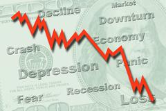economy recession concept - stock photo