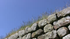 Hadrians Wall low angle view Stock Footage