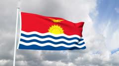 Flag of Kiribati Stock Footage