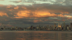 Seattle skyline Stock Footage