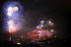Sydney fireworks Stock Photos