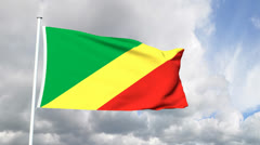 Flag of the Congo Stock Footage