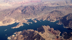 Aerial Lake Mead Stock Footage