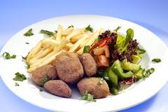 fry rissole - stock photo