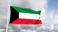 Stock Video Footage of Flag from the State of Kuwait