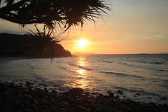 Beach sunset Stock Photos