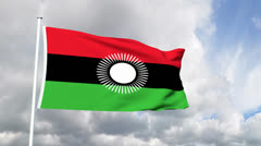 Flag of Malawi Stock Footage
