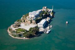 alcatraz jail in san francisco - stock photo