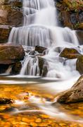Laurel Falls in Great Smoky Mountains Naitonal Park, Tennessee Stock Photos