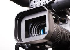Stock Photo of dv-cam camcorder close-up