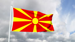 Flag of Macedonia Stock Footage