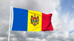 Flag of Moldova Stock Footage