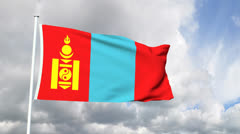 Flag of Mongolia Stock Footage