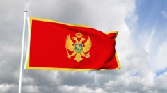 Flag of Montenegro Stock Footage