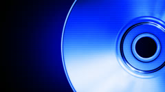 Blue compact disk - stock footage